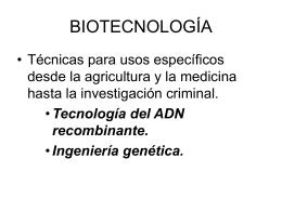 BIOTECNOLOGÍA - ies hoces del duratón