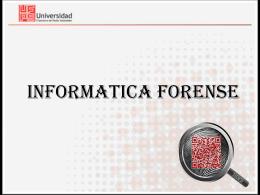INFORMATICA FORENSE - Semillero de Investigación en