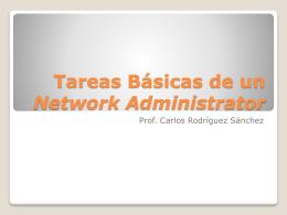 Tareas Básicas de un Network Administrator