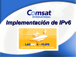 Implementación de IPv6 en Comsat