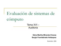 16. Auditoría - Edna Miranda Chávez