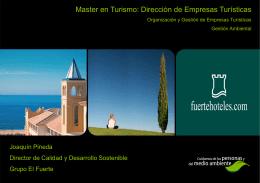 Gestión Medioambiental - Master Oficial en Turismo