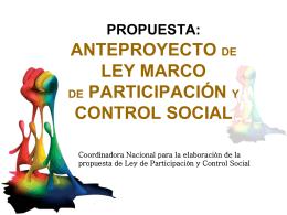 el sujeto activo de la participación y control social