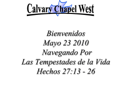 speak to me - Calvary Chapel West