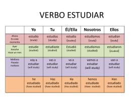 verbo estudiar