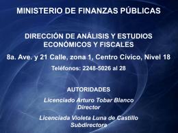 Dirección de Análisis y Estudios Económicos y Fiscales