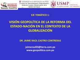Visión Geopolítica del Perú Jaime Castro PPT