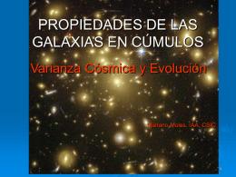 PROPIEDADES DE LAS GALAXIAS EN CÚMULOS - ice