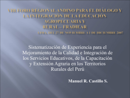 Manuel R. Castillo S.