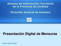 Presentación Digital de Mensuras I