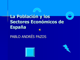 La Población y los Sectores Económicos de España
