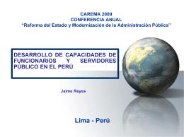 Desarrollar una Función Publica de Vocación Carlos Malpica