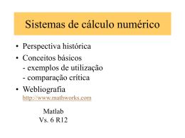 Sistemas de cálculo numérico