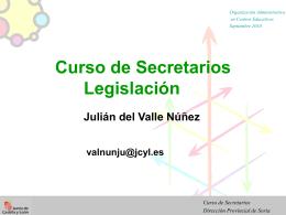 Curso de Secretarios Dirección Provincial de Soria
