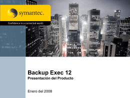 Backup Exec 12 - Introduction