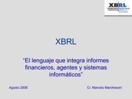 XBRL Agosto 2006