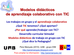 Modelos didácticos de trabajo cooperativoz través de las TIC
