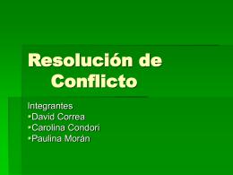 Resolución de Conflicto