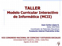Modelo Curricular Interactivo de Informática (MCII)