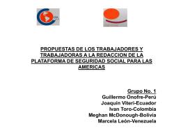 Sobre propuesta de los trabajadores: grupo 1