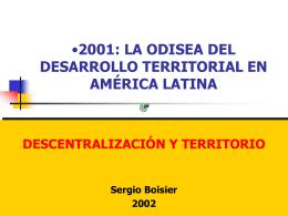 Desarrollo Territorial - Colegio de Asistentes Sociales Provincial