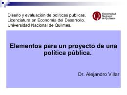 Elementos para un proyecto_f - Universidad Nacional de Quilmes