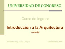 introduccion arquitectura clase 2