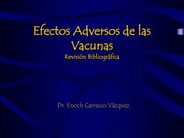EFECTOS DE VACUNAS