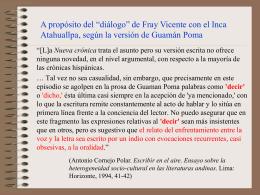 Sobre la versión de Guamán Poma