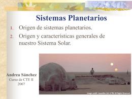 Formacion de Sistemas Planetarios