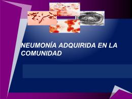 Neumonía adquirida en la Comunidad y sus complicaciones