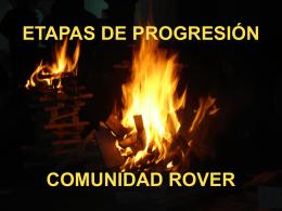 ETAPAS DE PROGRESIÓN COMUNIDAD ROVER