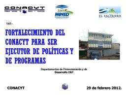 PowerPoint 프레젠테이션 - Consejo Nacional de Ciencia y Tecnología