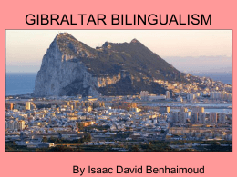 Bilingualism in Gibraltar by Isaac - ramonycajal