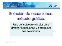 Solución de ecuaciones: método gráfico.