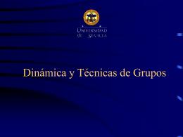 Tema 9. Dinámica y técnica de grupo