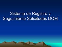 Solución Sistema de Registro y Seguimiento Solicitudes DOM