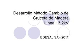 Desarrollo Método Cambio de Cruceta de Madera Linea 13
