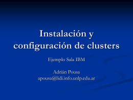 Instalación y Configuración de Clusters. Ejemplo