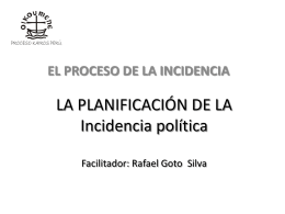 Proceso de la Incidencia política y el Plan de Incidencia.Impresión
