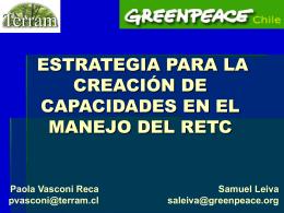 Presentación Fundación Terram Sra. Paola Vasconi