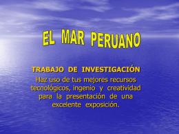 el mar frío de la corriente peruana