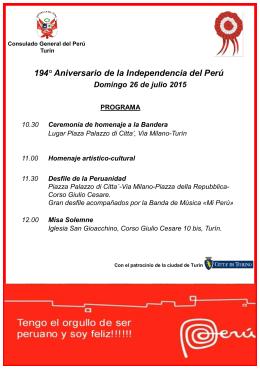 PowerP Perú programa 26 julio 2015
