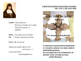 logo ejercicios espirituales para jóvenes del 10 al 17 de julio 2009