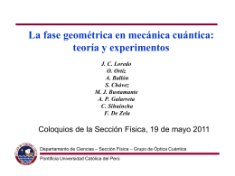 Interferometry - departamento.pucp.edu.pe
