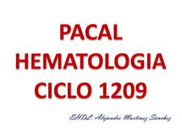 PACAL HEMATOLOGIA CICLO 1208