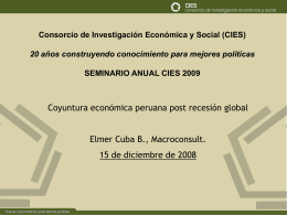 Coyuntura económica peruana post recesión global