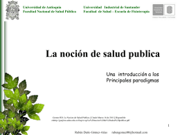 GOMEZ RD. paradigmas en salud publica