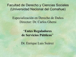 5-entes-reguladores - Universidad Nacional del Comahue