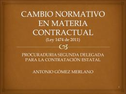 cambio normativo en materia contractual